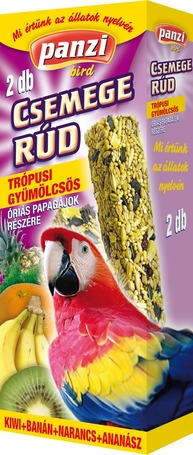 Panzi trópusi gyümölcsös csemege rúd óriás papagájoknak