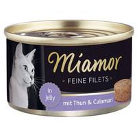 Miamor Cat Feine Filets – Tonhalas és tintahalas konzerv