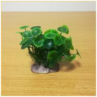 Kerek zöld levelű akváriumi palás műnövény