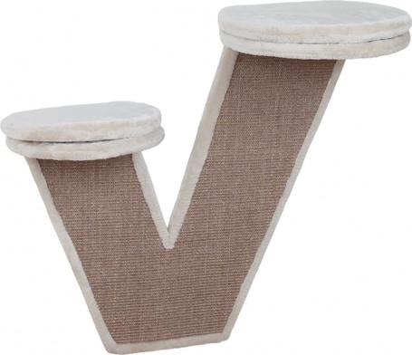 V betűt formázó falra rögzíthető Trixie kaparófa két párnás fekhellyel