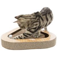 Trixie lekerekített háromszög alakú karton kaparó labdákkal macskáknak