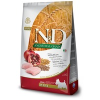 N&D Dog Adult Mini Chicken & Pomegranate Ancestral Grain | Kutyatáp kistestű kedvenceknek