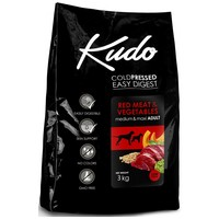 Kudo Adult Medium & Maxi Red Meat & Vegetables Low Grain