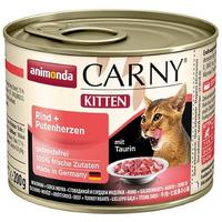 Animonda Carny Kitten marhahúsos és pulykaszíves konzerv
