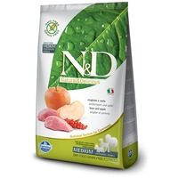 N&D Dog Adult Medium Boar & Apple Grain Free | Vaddisznóhúsos és almás kutyaeledel | Gabonamentes