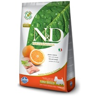 N&D Dog Adult Mini Fish & Orange Grain Free | Gabonamentes kutyaeledel hallal és naranccsal |Kistestű