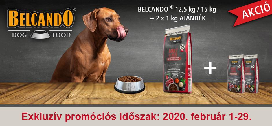Februárban 2 kg Belcando kutyatápot adunk ajándékba