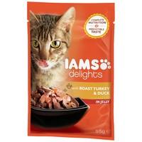 IAMS Cat Delights – Sült pulyka- és kacsahús aszpikban