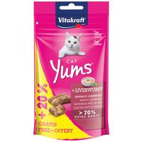 Vitakraft Cat Yums extra puha májas jutalomfalatkák macskáknak (+20% extra töltősúly)