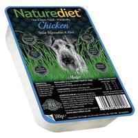 Naturediet műanyag tálkás csirkehúsos eledel kutyáknak