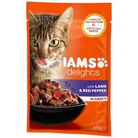 IAMS Cat Delights - Bárányhús és paprika szószban