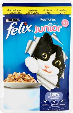 Felix Junior alutasakos macskaeledel aszpikban csirkehússal