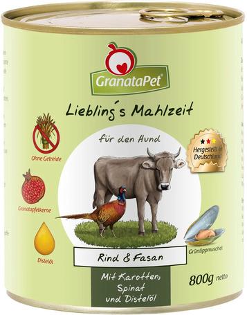 GranataPet marhás és fácános konzerv kutyáknak