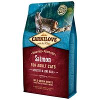 CarniLove Cat Adult Sensitive & Long Hair lazaccal | Száraztáp hosszú szőrű macskáknak