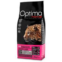 Visán Optimanova Cat Exquisite Chicken & Rice táp válogatós és érzékeny emésztésű macskáknak