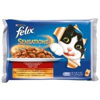 Felix Sensation húsos válogatás aszpikban - Multipack (4 x 100 g)