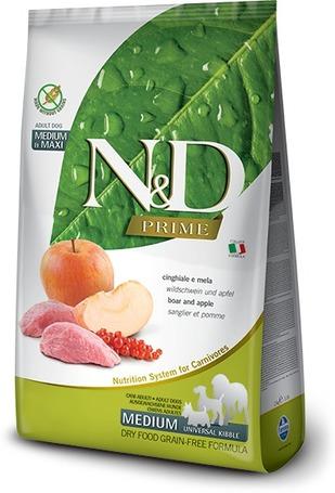 N&D Dog Adult Medium/Maxi Boar & Apple Grain Free | Vaddisznóhúsos és almás kutyaeledel | Gabonamentes