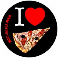 I love pizza - Yutipet biztonsági kutyahám - Grafikus címke