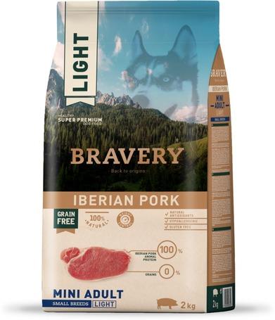 Bravery Dog Adult Mini Light Grain Free Iberian Pork   Kutyatáp Spanyolországból közepes és nagy termetű felnőtt kutyáknak   Gabonamentes