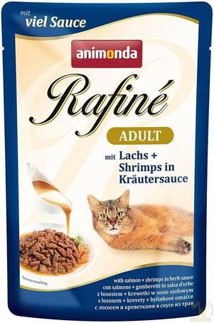 Animonda Rafine Soupé Adult – Lazac és garnélarák gyógynövényzselében