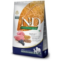 N&D Dog Adult Medium & Maxi Lamb & Blueberry Ancestral Grain
