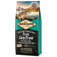 CarniLove Fresh Adult Dog Hair & Healty Skin - Kutyatáp ponttyal és pisztránggal a fényes és ragyogó szőrért.