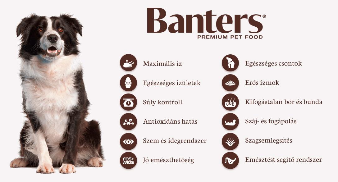 Visán Banters kutyatáp - Előnyök