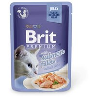 Brit Premium Cat with Jelly Salmon Fillets for Adult Cats | Zselés macskaeledel lazaccal