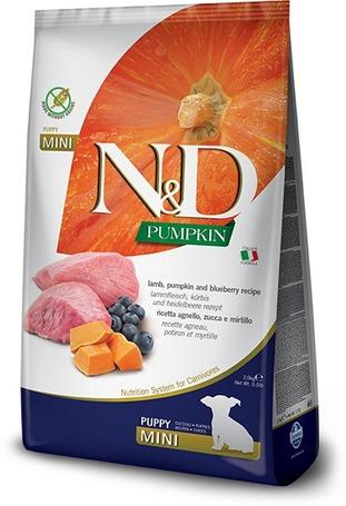 N&D Dog Grain Free Puppy Mini sütőtök, bárány & áfonya