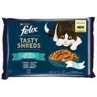 Felix Shreds halas válogatás - Lazacos és tonhalas tépett falatok szószban macskáknak - Multipack