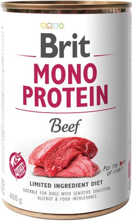 Brit Mono Protein Beef   Hipoallergén konzerves kutyatáp marhahússal